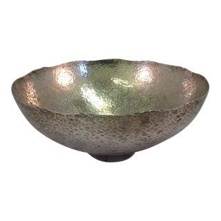 Vintage Hammered Silver Plate Bowl