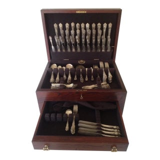 Reed & Barton 'Festivity' Flatware in Rosewood Chest