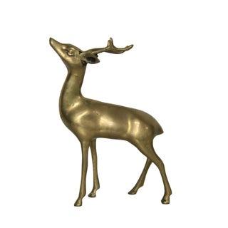 Vintage Mid-Century Brass Deer