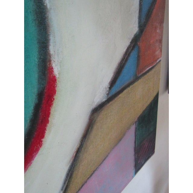 Original Signed Large Colorful Abstract Painting - Image 5 of 8