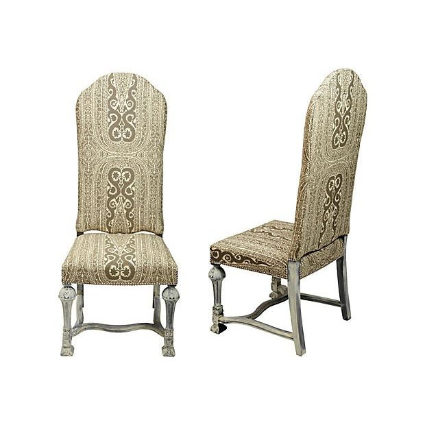 Image of English Parsons Side Chairs - A Pair