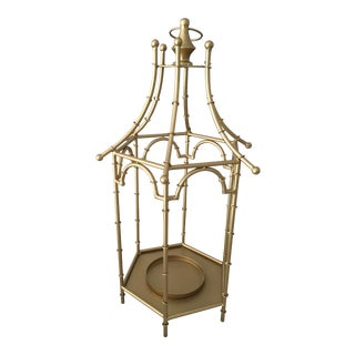 Gold Pagoda Lanterns - A Pair