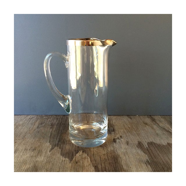 Vintage Silvered Edge Martini Pitcher - Image 2 of 5