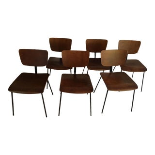 Molded Wood Dining Chairs - Set of 6