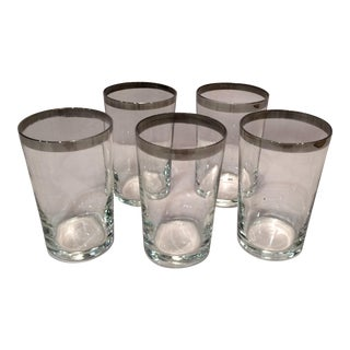 Dorothy Thorpe Mid-Century Modern Juice or Aperitif Glasses- Set of 5