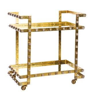 Emporium Home Quartz Stud Leaf Bar Cart