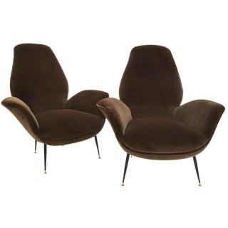 Pair of Mid-Century Club Chairs by ISA Bergamo, Italy circa 1954