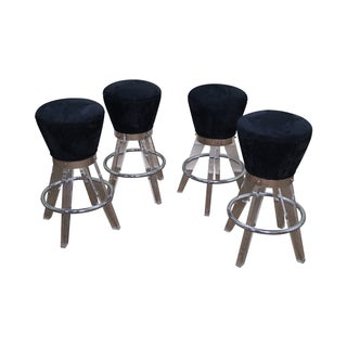 H. Studio Lucite Gumdrop Bar Stools by Haziza (A)