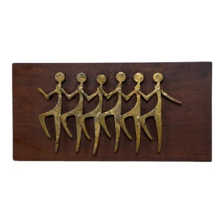 "Bronze and Wood ""Chorus Line"" Plaque"