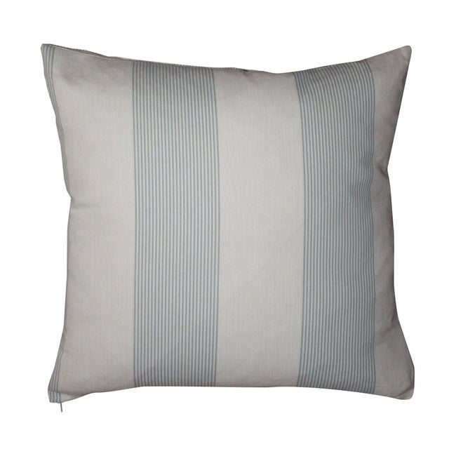 French Blue & Ivory Pillow Cover - A Pair - Image 1 of 4