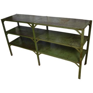 Green Paint Industrial Steel Shelving Unit