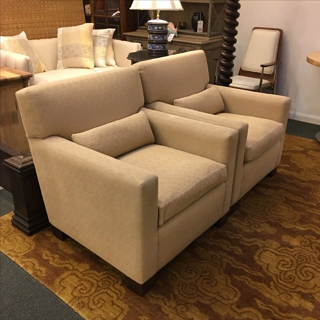 Sutter of Cali Fabric Arm Chairs - A Pair - Image 3 of 6