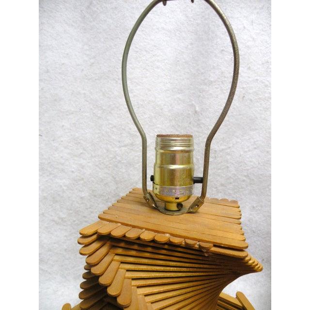 Image of 1960's Folk Art Lamp