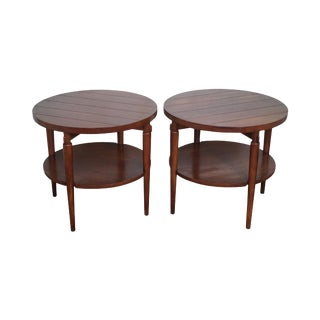 Mid-Century Modern Lane Round End Tables - A Pair