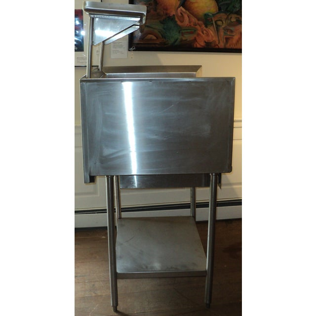Industrial Stainless Steel Restaurant Island Table - Image 8 of 11
