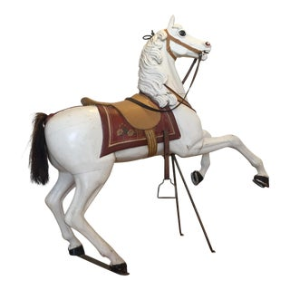 Antique Carved Wood Carousel Horse