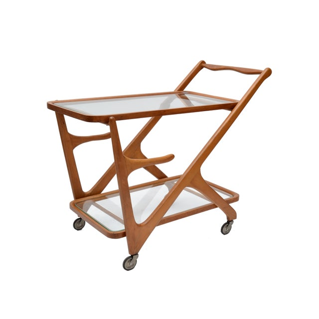 Cesare Lacca Wooden Bar Cart for Cassina, Italy - Image 2 of 8