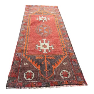 "Vintage Turkish Oushak Tribal Rug- 1'9"" x 4'6"""