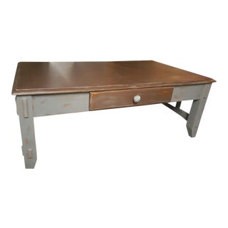 Solid Oak Mission Style Coffee Table