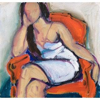 Woman in Orange Chair Sketch I by Heidi Lanino