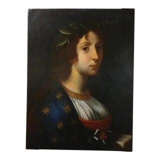 La Poesia - 18th Century Oil Painting