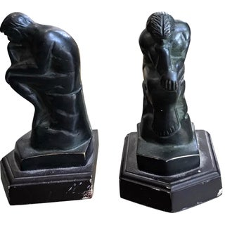 "Rodin's ""The Thinker"" Bookends - A Pair"