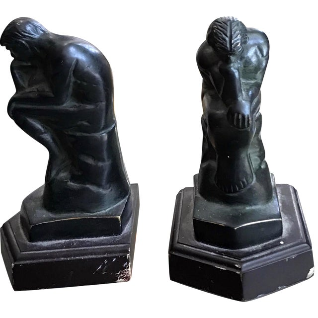"""Rodin's """"The Thinker"""" Bookends - A Pair - Image 1 of 3"""