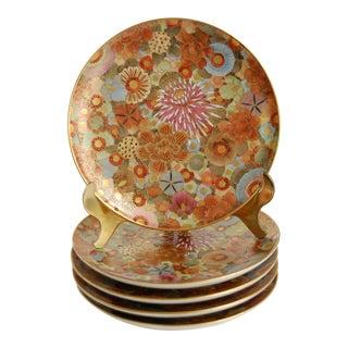 Japanese Satsuma Mille Fleur Porcelain Plates- Set of 5