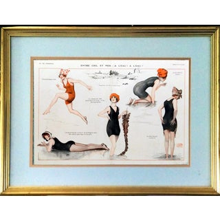 1918 La Vie Parisienne Bathing Beauty Print