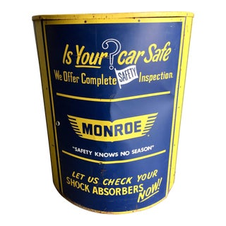 Vintage Monroe Shock Absorbers Trade Display Cabinet