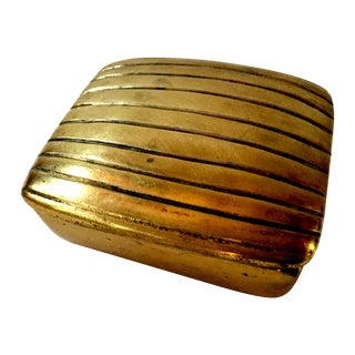 Ben Seibel Lidded Ribbed Brass Box