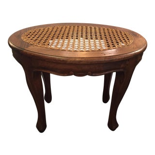 French Provincial Hand Caned Stool