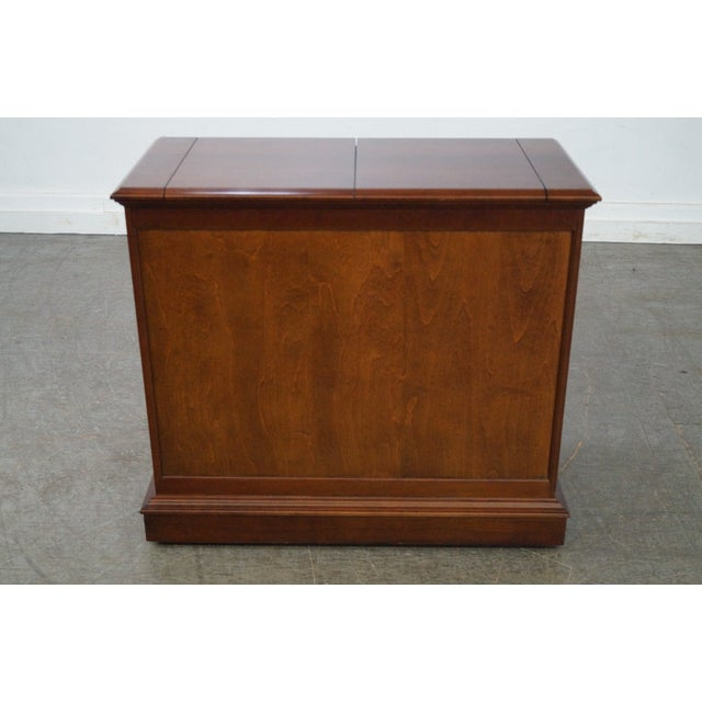 Pennsylvania House Solid Cherry Flip Top Server - Image 4 of 10