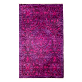 """Pink Over-Dyed Hand-Knotted Rug - 3'2"""" X 5'2"""""""