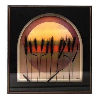 "MCM Vintage Virgil Thrasher ""Wheat"" Wall Art"