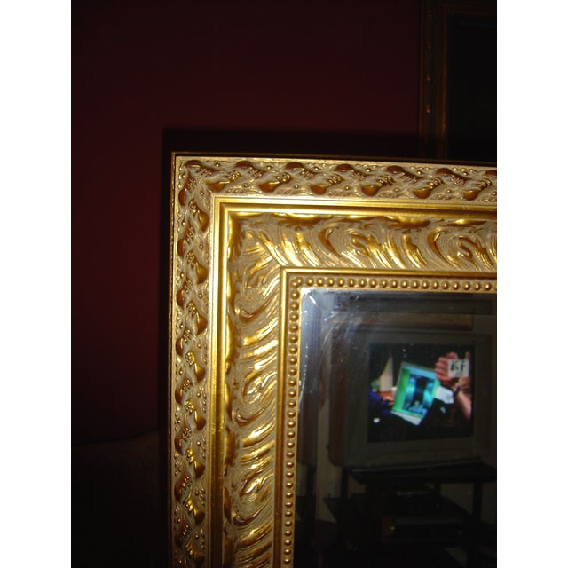 Large Beveled Glass & Gold Accents Mirror - Image 4 of 4
