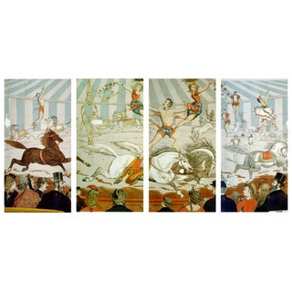 In the Ring - Four Prints of Circus Art From 1800s