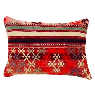 Turkish Red Kilim Pillow