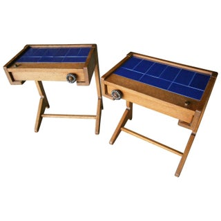 Guillerme & Chambron Vintage Side Tables - A Pair