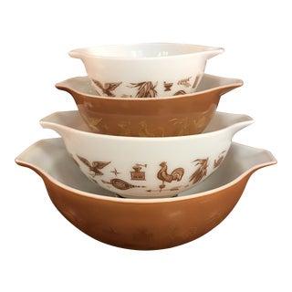 Vintage Cinderella Pyrex Mixing Bowls - Set of 4