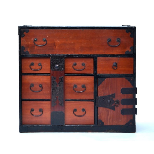 Antique Japanese Lacquered Small Tansu Chest - Image 5 of 6