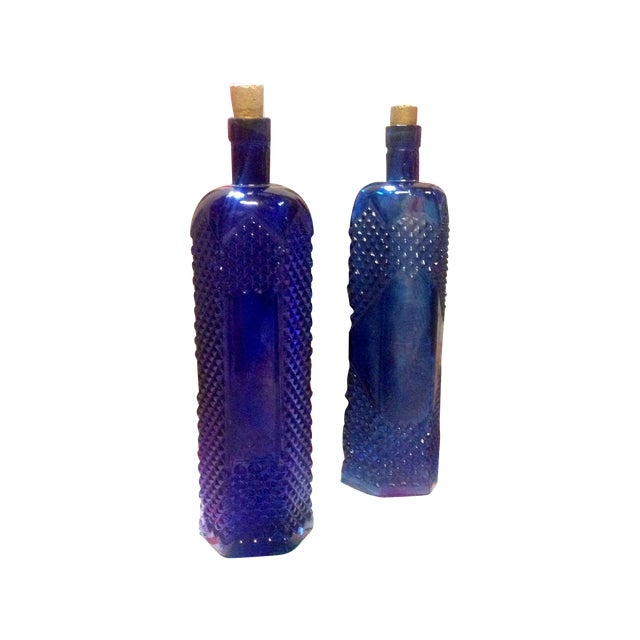 Image of Blue Glass Sea Urchan Message Bottles - 2