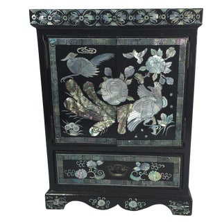 Chinese Lacquer Jewelry Box