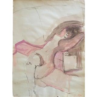 1960 Female Nude in Pinks Arlene Risi Streich