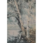 Image of C .1900 Forested Landscape Watercolor