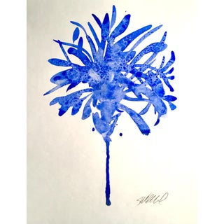 """Botanical Blue"" Original Watercolor Painting"
