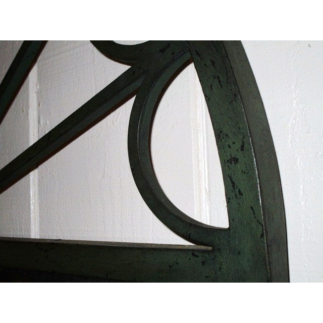 Large Mirror in Green Iron Frame - Image 4 of 5