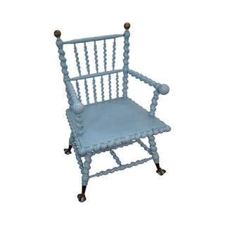 Blue Antique Barley Twist Arm Chair Merklen Brothers