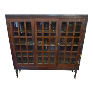 Stunning WWII Era Glass Front Cabinet