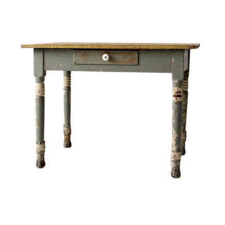 Antique American Painted Wood Table - Image 1 of 6